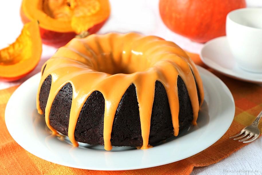 Kürbis-Schokokuchen - veganer Schokoladenkuchen mit Kürbis -- das Original von Kleinstadthippie