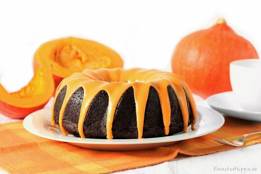 Schokokuchen mit Kürbismus Kürbis-Schokokuchen - veganer Schokoladenkuchen mit Kürbis -- das Original von Kleinstadthippie