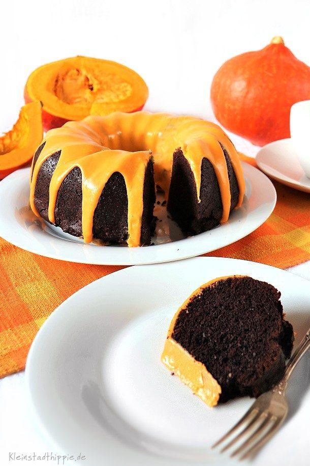 Kürbisschokokuchen - vegan Backen - ganz einfach