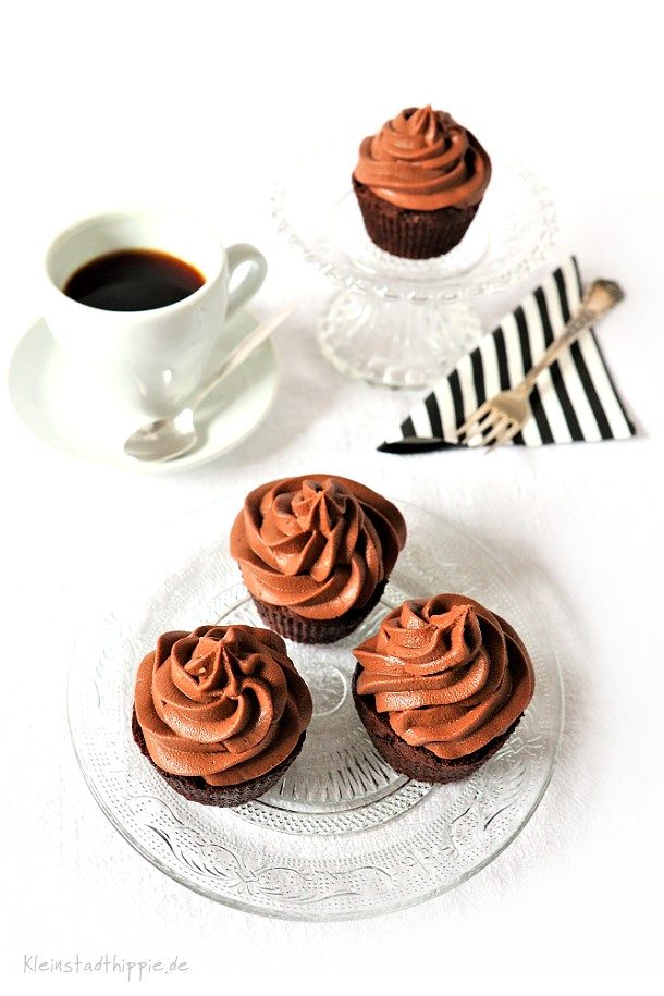 Cupcakes mit Schokoladenfrosting