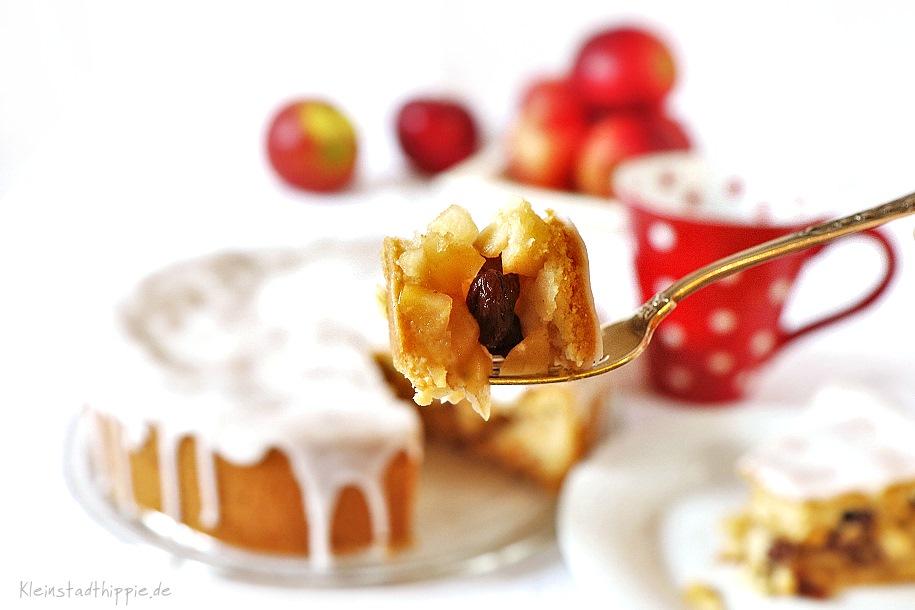 Gedeckter Apfelkuchen - veganer Apfelkuchen