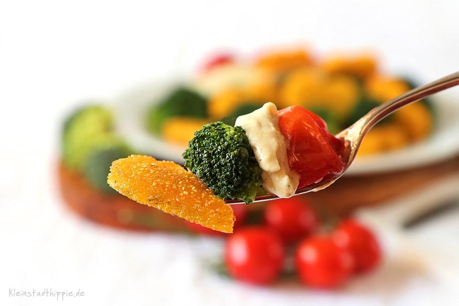 Veganes Rezept mit Brokkoli und Polenta