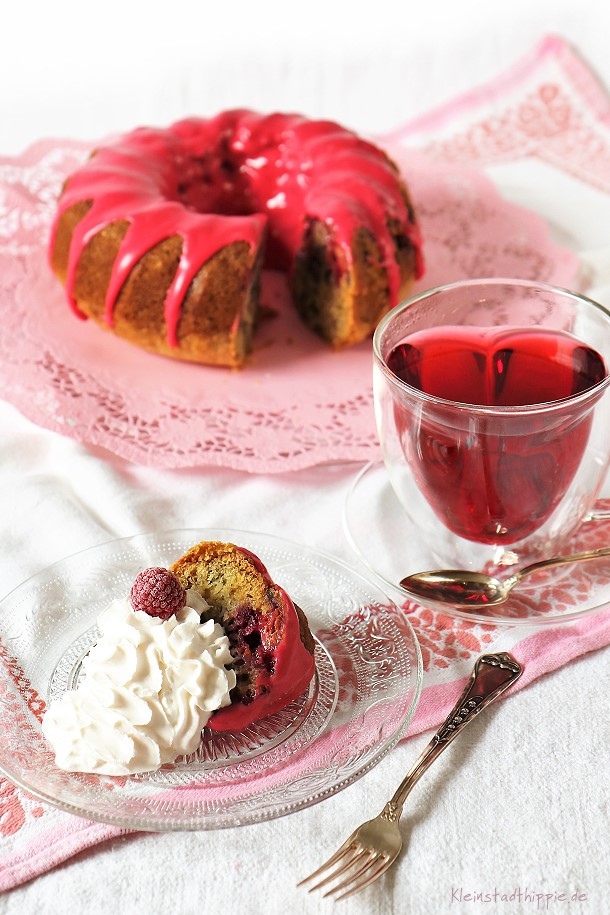 Veganer Kuchen Vanille Himbeeren