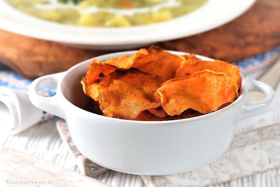 Süßkartoffelchips aus dem Airfryer