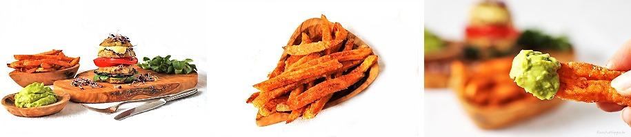 Süßkartoffelpommes aus dem Airfryer