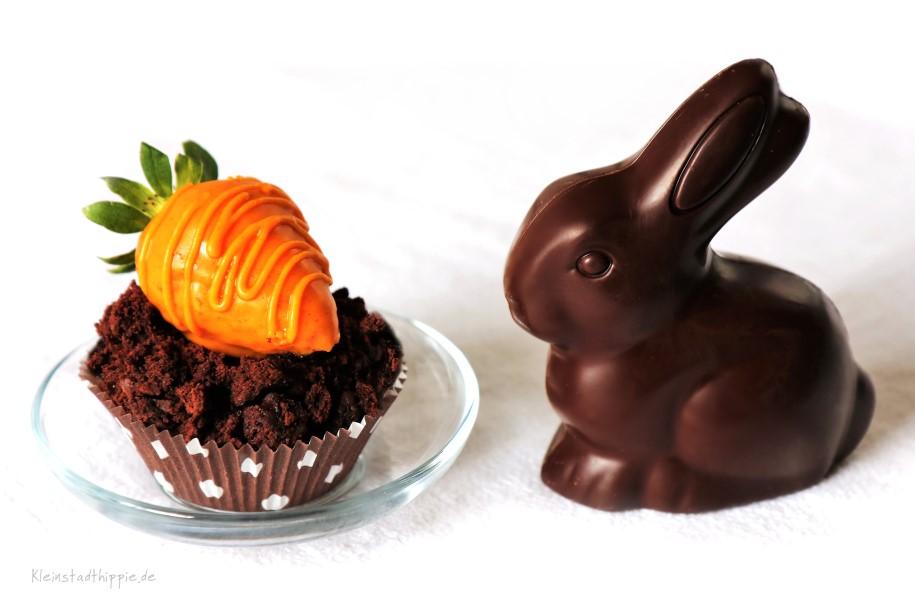 Vegane Oster-Schokoladen-Cupcakes