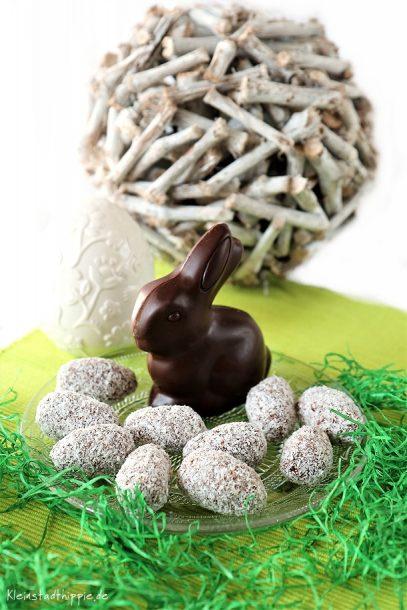 Vegane Ostereier aus Schokolade