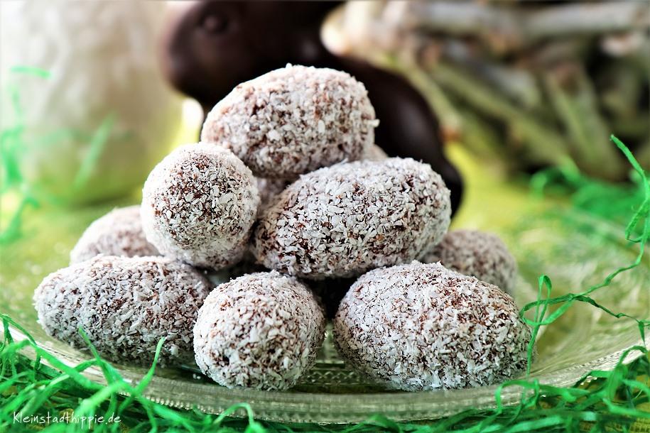 Vegane Schokoladen-Kokos-Ostereier