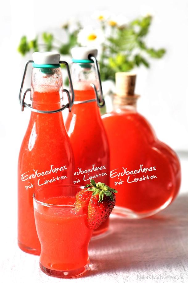 Erdbeerlimes mit Limetten