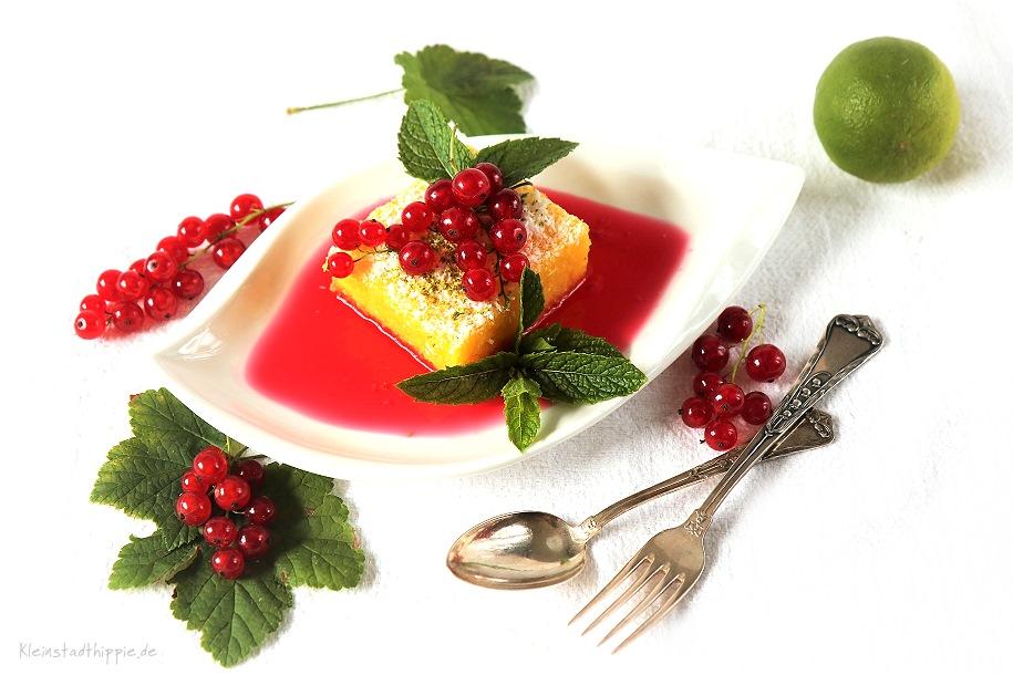 Dessert vegan laktosefrei mit Polenta