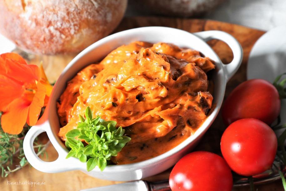 Rezept für vegane Tomatenbutter
