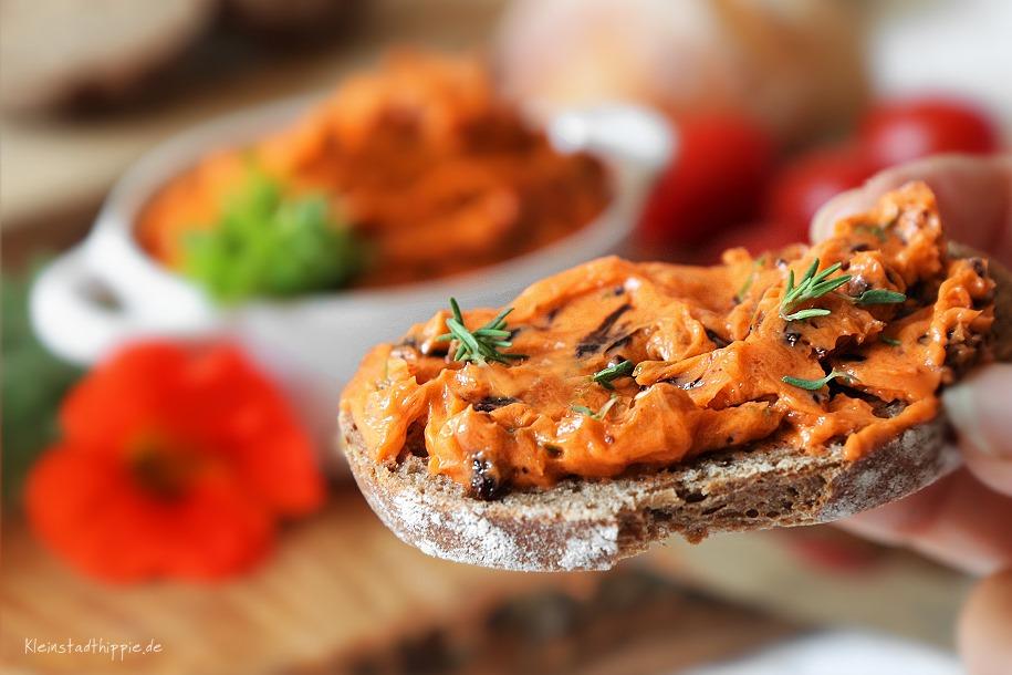 Rezept für vegane Tomatenbutter  - vegan Grillen