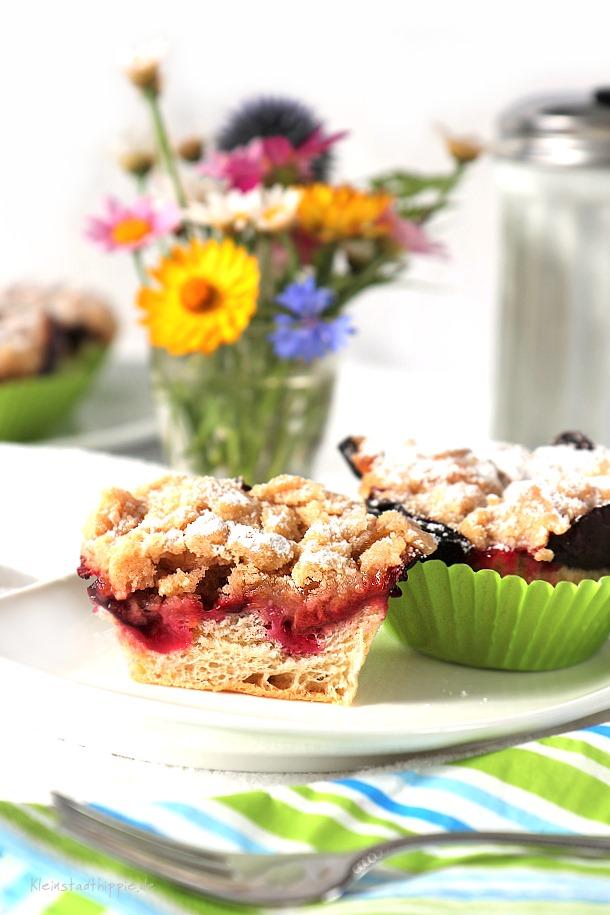 Vegane Zwetschgendatschi-Muffins - vegan backen