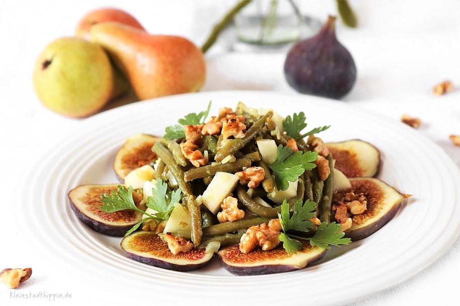 Bohnensalat mit Birne
