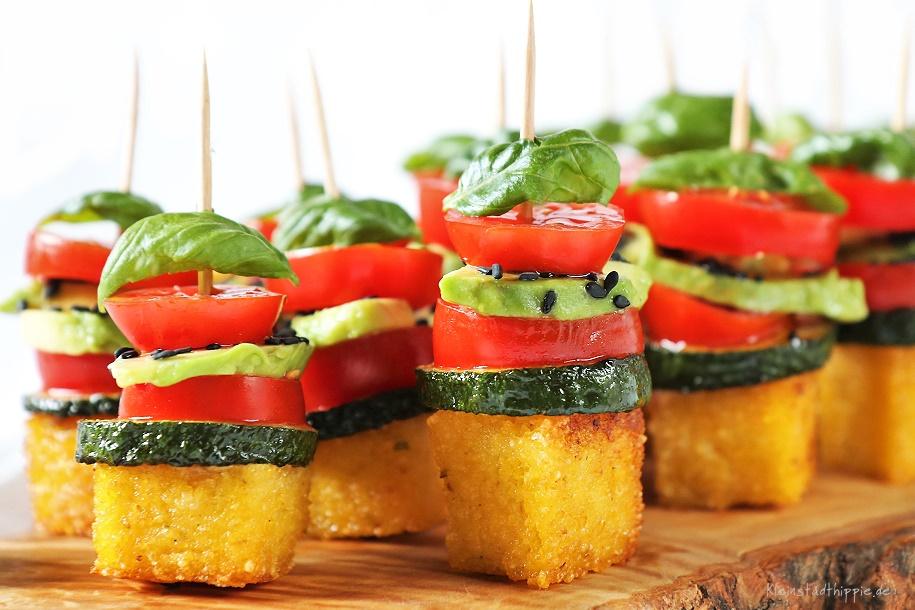Polenta-Häppchen Fingerfood - Vegan Food Blog