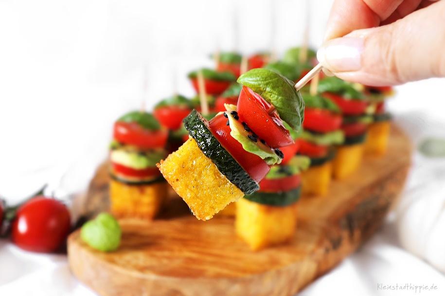 Häppchen mit Polenta - Fingerfood