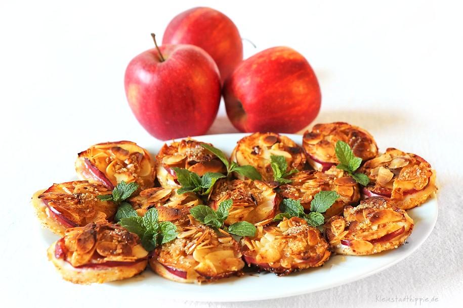 Süße Flammkuchen Apfel / Zimt - vegane Backrezepte