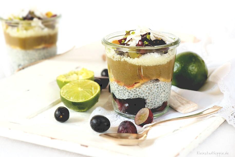 Traubendessert mit Chia - fruchtig, ohne Zucker, mit Superfood, vegan