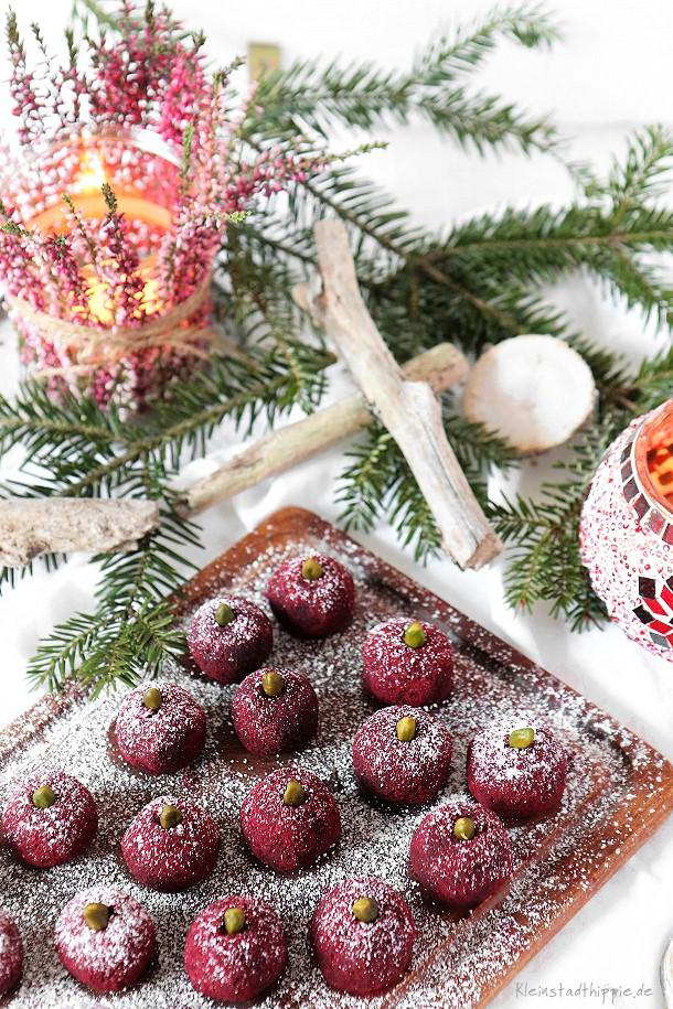 Hibiskus-Avocado-Trüffel - Vegane Trüffel - Pralinen / Geschenke aus der Küche