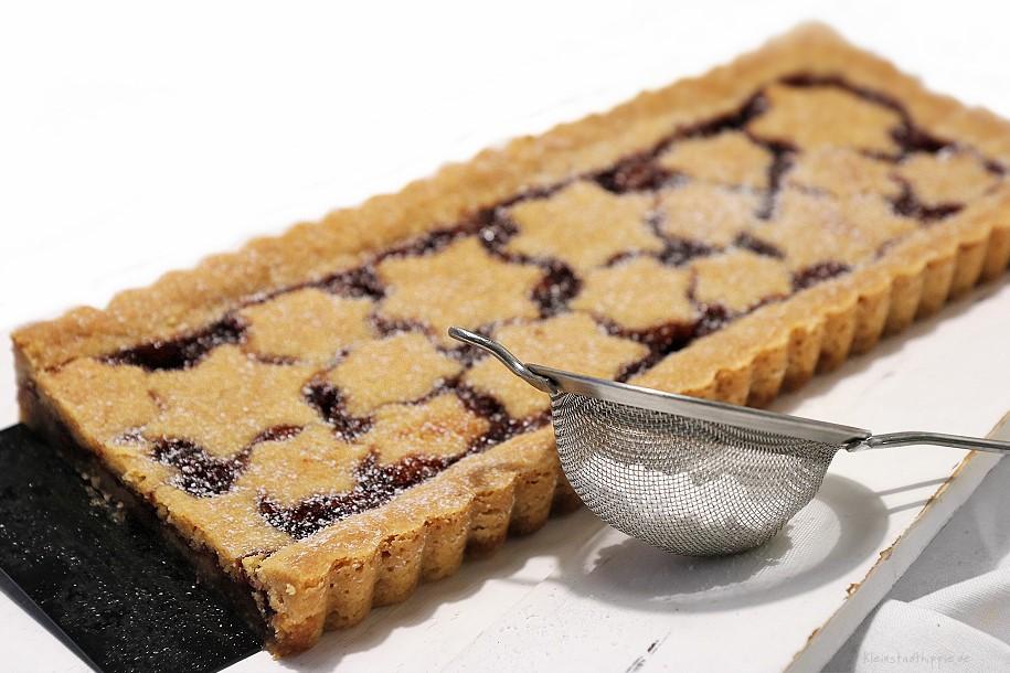 vegane Linzer Torte - vegane Linzertorte