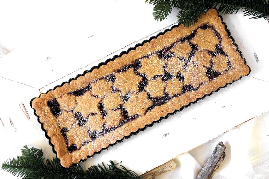 Weihnachtliche Linzer Torte / Linzer Tarte - vegane Linzer Torte von Kleinstadthippie