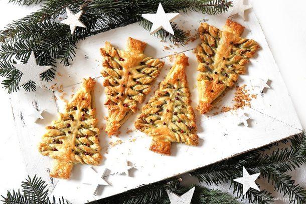 Pesto-Weihnachtsbäumchen - Pestoweihnachtsbaum - Pestobaum - Pestoblume