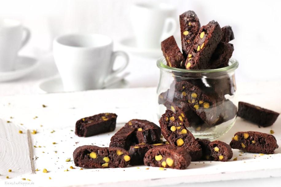 Schokoladen-Cantuccini - vegane Plätzchen - vegane Kekse
