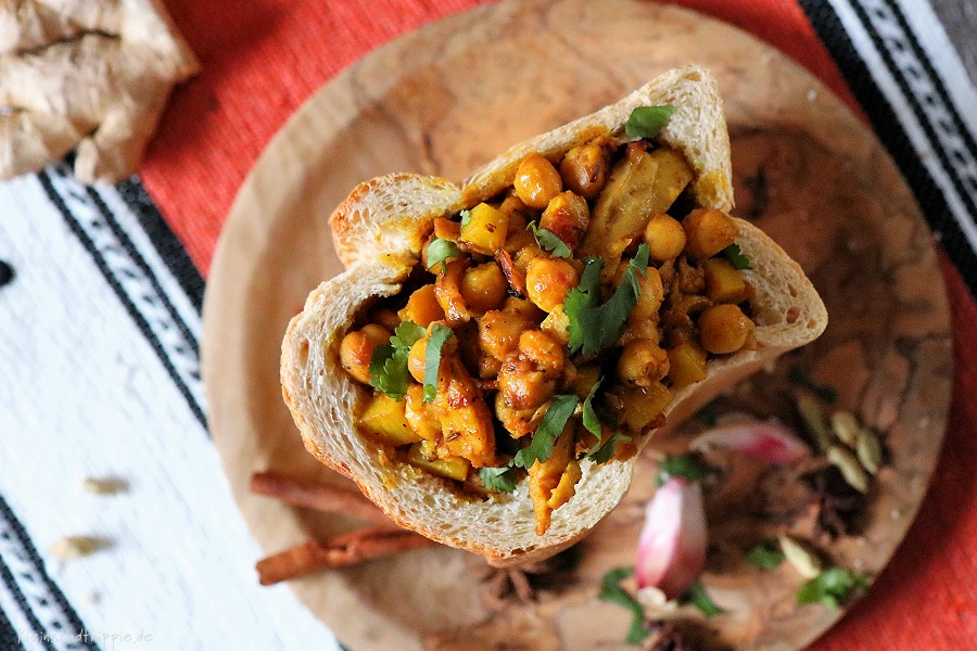 Veganes Bunny Chow - veganes Street Food