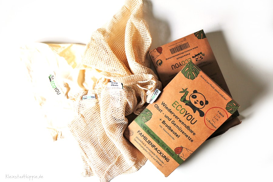 Eco You Baumwollsäckchen zum Einkaufen - Plastikfrei einkaufen