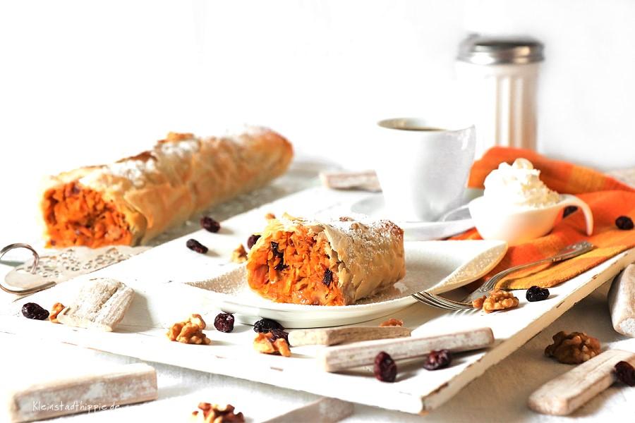 Süßer Kürbis-Karotten-Strudel