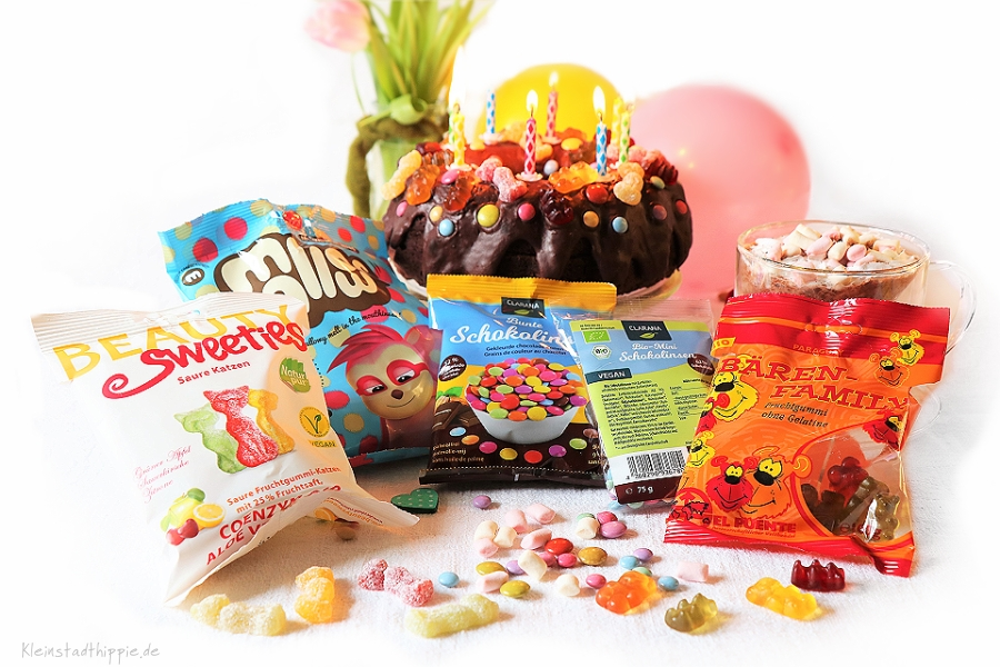 vegane Bunte Schokolinsen, vegane Mini-Schokolinsen, vegane Beauty Sweeties, vegane Marshmallows, vegane Gummibärchen