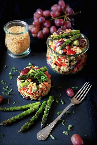 Linsensalat - vegan - proteinreich - marokkanische Linsen