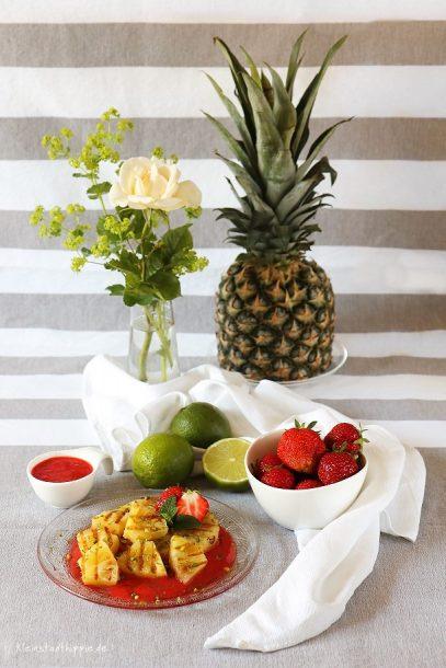 gegrillte Ananas- veganes Dessert