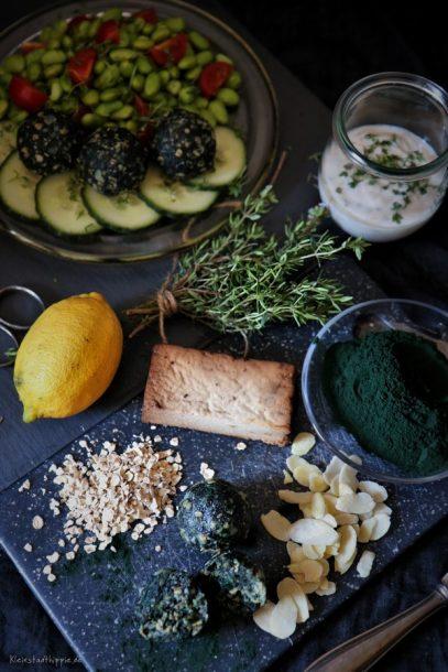 Spirulina Pulver von Grün hoch Zwei - Protein Superfood Energiebällchen