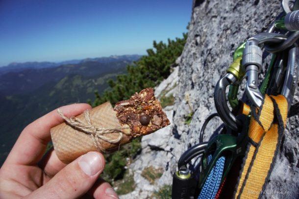 Proteinriegel vegan für Bergsteiger