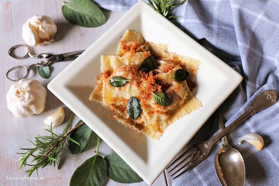 Kürbisravioli / Ravioli di Zucca