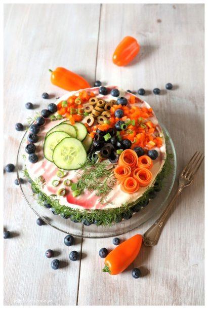 Brottorte mit Crema schwarze Johannisbeere von byodo