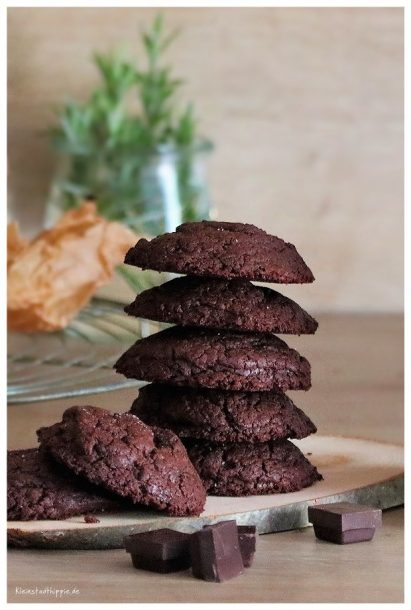 Brownie Cookies, vegane Schokoladenkekse