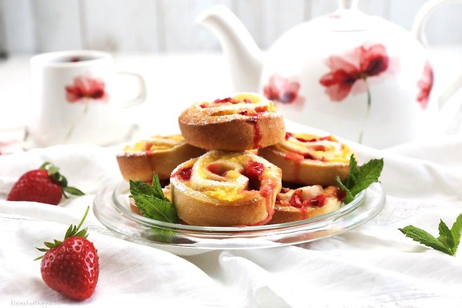 Erdbeervanilleschnecken -