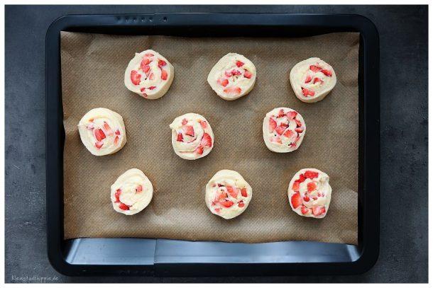 vegane Erdbeervanilleschnecken Zubereitung