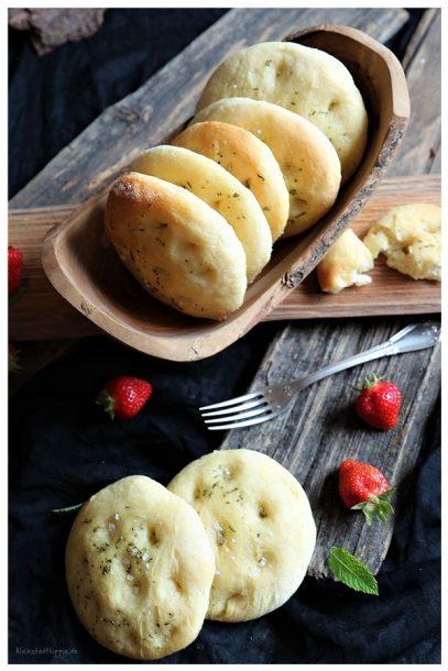 Italienische Kartoffel-Fladenbrötchen