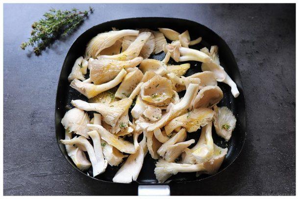 Austernpilze und glasierte Karotten aus dem Airfryer