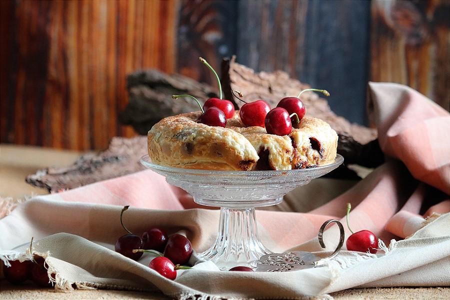 Kirschkuchen mit Schokolade