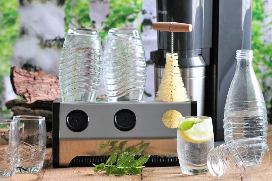 SodaStream Flaschenabtropfhalter Flaschenbürste Trinkgläser plastikfrei trinken