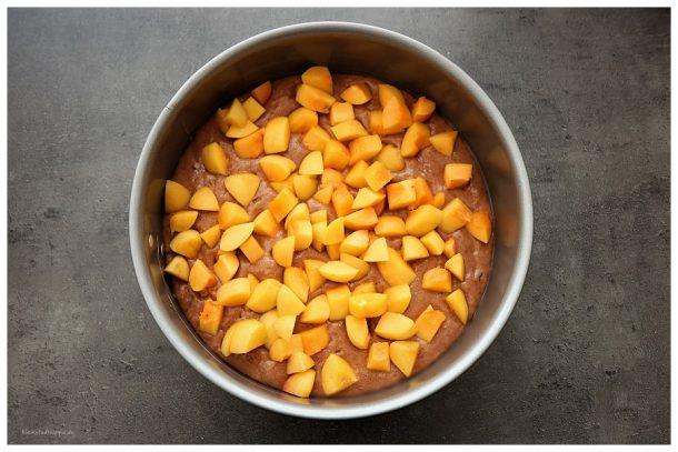 Veganer Schokoladenkuchen mit Zuckeraprikosen