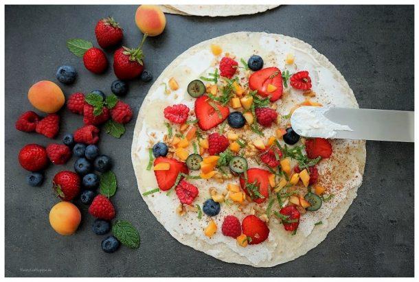 Vegane Süße Wraps / Früchtewraps