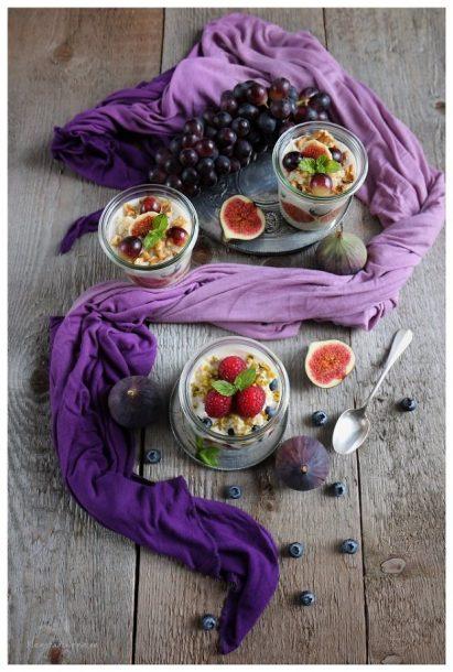 Veganes Bulgur-Früchte-Frühstück - zwei Variationen