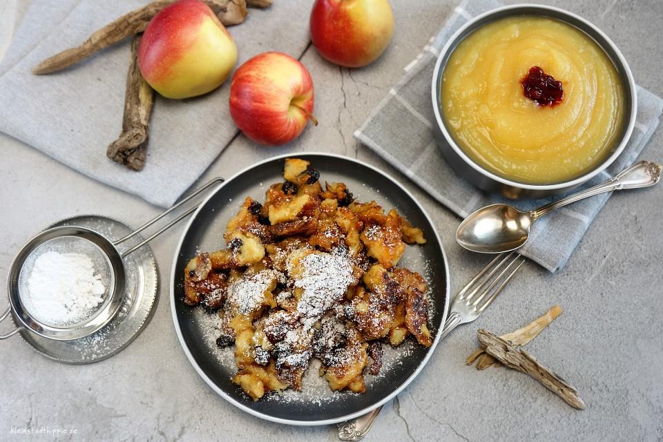 Kaiserschmarrn karamellisiert mit selbst gemachtem Apfelmus