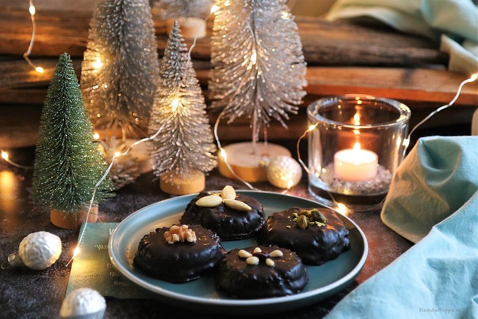 Barbaras Lebkuchen - vegane Schokoladenlebkuchen - Kleinstadthippie