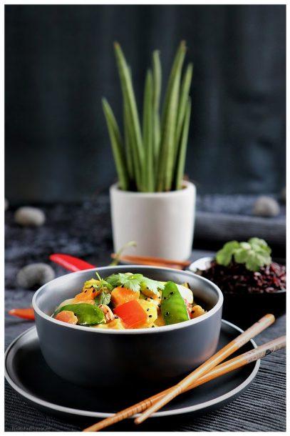 Thai Curry aus dem Wok